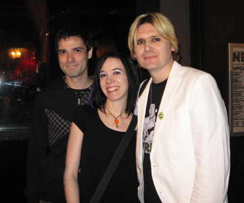 amber and johnny with nicky wire of manic street preachers