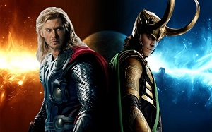 Promotional picture of Thor and Loki for Thor: The Dark World