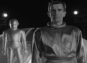 The Day the Earth Stood Still screenshot: Klaatu and Gort