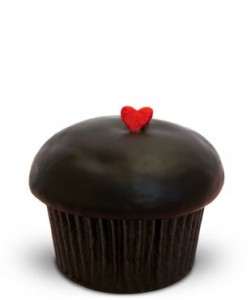 Trophy Cupcake: Dark Chocolate Raspberry Cupcake