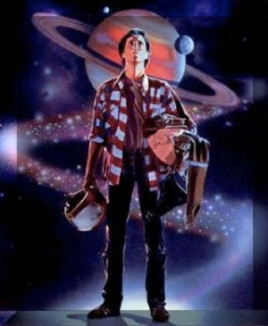 The Last Starfighter promotional image (Alex Rogan gazes skyward)