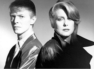 Promo shot of David Bowie and Catherine Deneuve for The Hunger