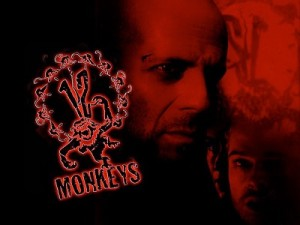 Promotional shot of Bruce Willis and Brad Pitt for 12 Monkeys