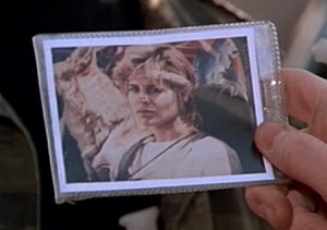 Snapshot of Sarah Connor that guides Kyle Reese in The Terminator