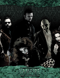 Vampire: The Masquerade 20th Anniversary Edition Storyteller's Screen (an assortment of vampires look out menacingly)