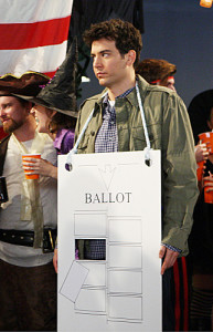 """Perfect on Paper"" -- Ted (Josh Radnor) and the gang celebrates Halloween, on HOW I MET YOUR MOTHER, Monday, Oct. 31 (8:00-8:300 PM, ET/PT) on the CBS Television Network. Photo: Monty Brinton/CBS © 2011 CBS Broadcasting, Inc. All Rights Reserved."