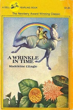 Cover of the edition of Wrinkle In Time that Amber grew up with