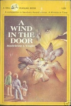 Cover of the edition of Wind in the Door that Amber grew up with