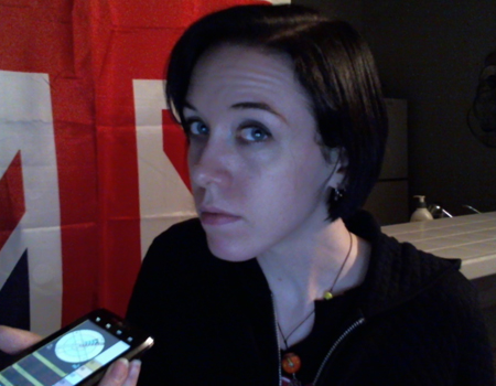 Me looking disappointed with the compass in my phone's tricorder app