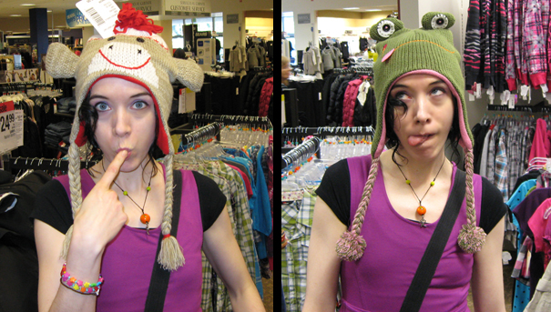 Me in silly hats