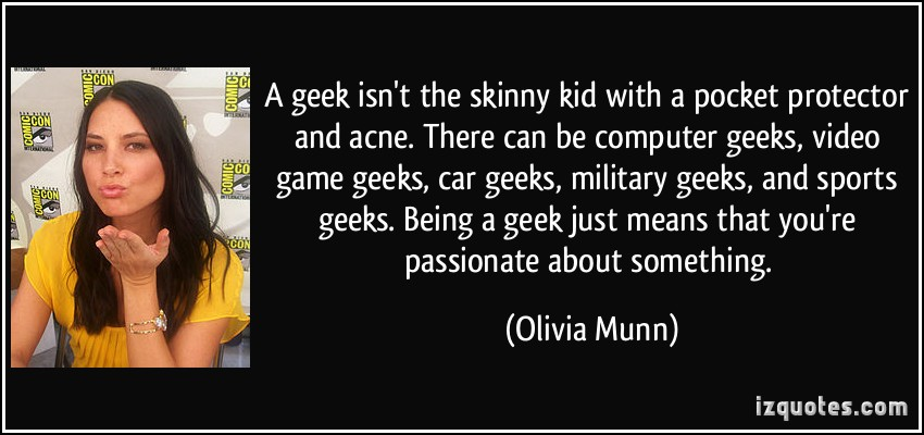 """Olivia Munn explains how widely we now use """"geek"""""""